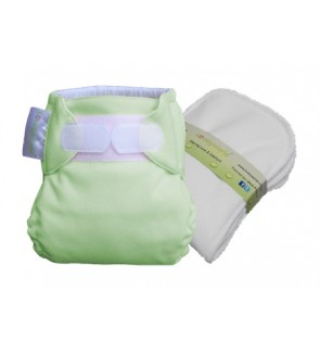 Natural Green New Born Fitted Cloth Diaper