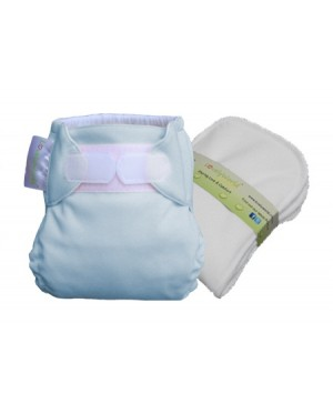 Tiffany Blue New Born Fitted Cloth Diaper
