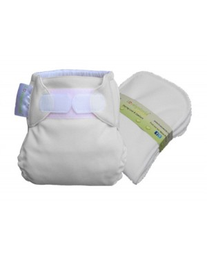 Milky White New Born Fitted Cloth Diaper
