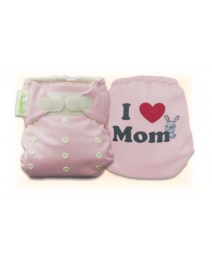 Cutie Pink I Love Mom Diaper Cover Only