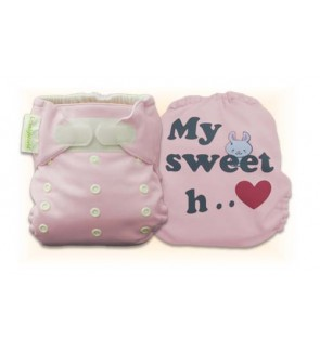 Cutie Pink My Sweet Heart Diaper Cover Only