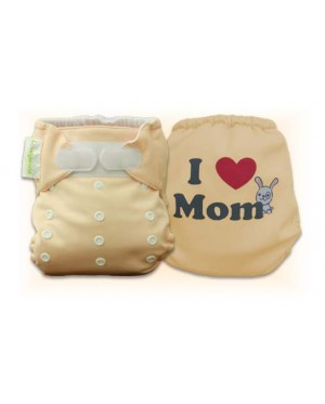 Creampuff  I Love Mom Diaper Cover Only