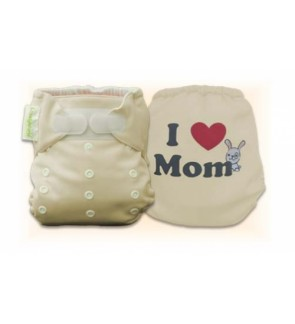 Mocha I love Mom Diaper Cover Only