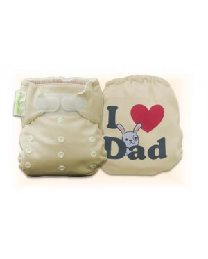 Mocha I Love Dad Diaper Cover Only