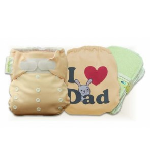 Creampuff  I Love Dad Cloth Diaper