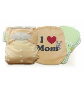 Creampuff  I Love Mom Cloth Diaper