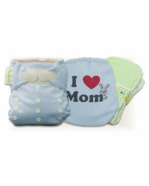 Tiffany Blue I Love Mom Cloth Diaper