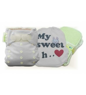 Milky White My Sweet Heart Cloth Diaper